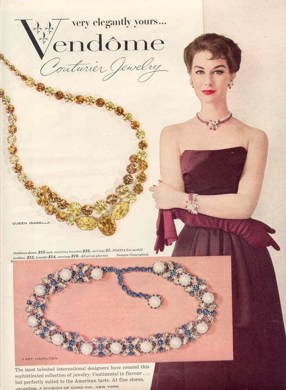 Vendome Jewelry Advertisement